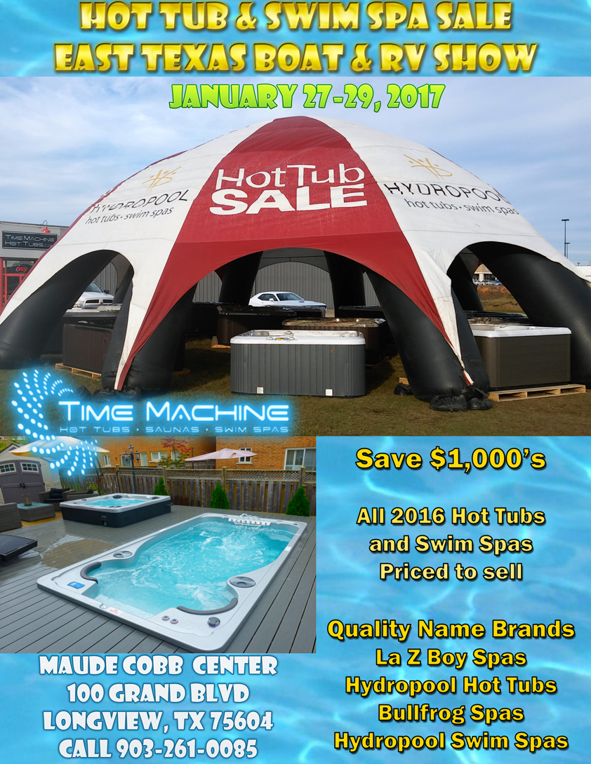 hot tubs, swim spas, sale, discounts, boat show, longview, shreveport